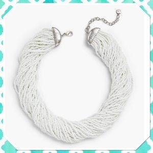 Talbots 30 Strand White Seed Bead Necklace